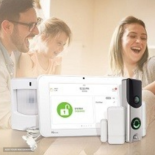 Home alarm system with Free Camera